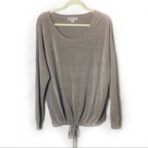 Barefoot Dreams Mocha Soft Tie Front Pullover
